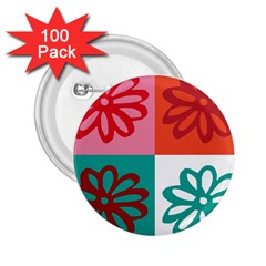Flower 2.25  Button (100 pack)