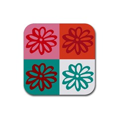 Flower Drink Coasters 4 Pack (square)
