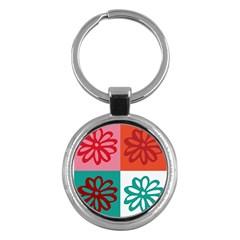Flower Key Chain (Round)