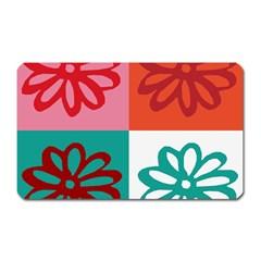 Flower Magnet (Rectangular)