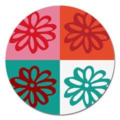 Flower Magnet 5  (Round)
