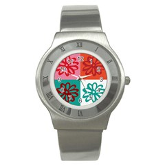 Flower Stainless Steel Watch (slim)