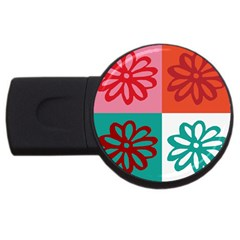 Flower 4GB USB Flash Drive (Round)