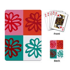 Flower Playing Cards Single Design
