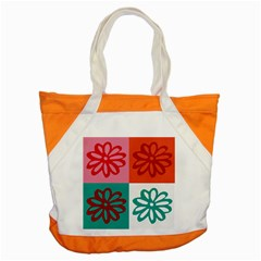 Flower Accent Tote Bag