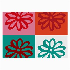 Flower Glasses Cloth (Large, Two Sided)