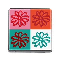 Flower Memory Card Reader with Storage (Square)
