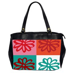 Flower Oversize Office Handbag (Two Sides)