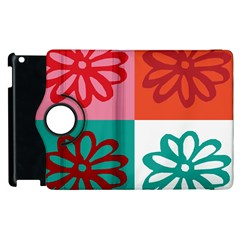 Flower Apple iPad 3/4 Flip 360 Case