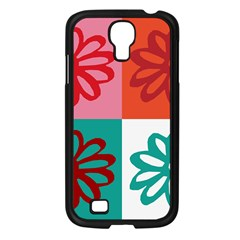 Flower Samsung Galaxy S4 I9500/ I9505 Case (black)