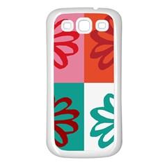 Flower Samsung Galaxy S3 Back Case (white)