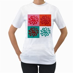 Flower Women s T-Shirt (White)