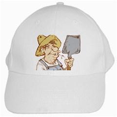 Redneck Shovel White Baseball Cap