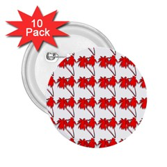 Palm Tree Pattern Vivd 3d Look 2.25  Button (10 pack)