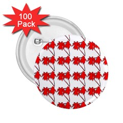 Palm Tree Pattern Vivd 3d Look 2.25  Button (100 pack)