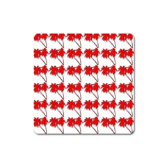 Palm Tree Pattern Vivd 3d Look Magnet (Square)