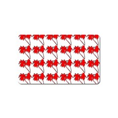 Palm Tree Pattern Vivd 3d Look Magnet (Name Card)