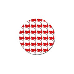 Palm Tree Pattern Vivd 3d Look Golf Ball Marker 4 Pack