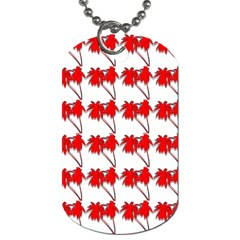 Palm Tree Pattern Vivd 3d Look Dog Tag (Two-sided)