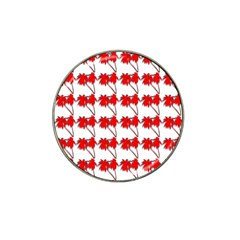 Palm Tree Pattern Vivd 3d Look Golf Ball Marker 4 Pack (for Hat Clip)
