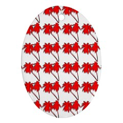Palm Tree Pattern Vivd 3d Look Oval Ornament (Two Sides)