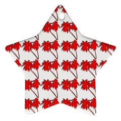 Palm Tree Pattern Vivd 3d Look Star Ornament (Two Sides)