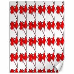 Palm Tree Pattern Vivd 3d Look Canvas 12  x 16  (Unframed)