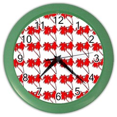 Palm Tree Pattern Vivd 3d Look Wall Clock (Color)