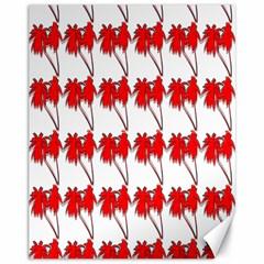 Palm Tree Pattern Vivd 3d Look Canvas 11  x 14  (Unframed)