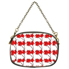 Palm Tree Pattern Vivd 3d Look Chain Purse (One Side)