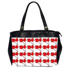 Palm Tree Pattern Vivd 3d Look Oversize Office Handbag (Two Sides)