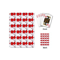 Palm Tree Pattern Vivd 3d Look Playing Cards (Mini)