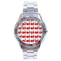 Palm Tree Pattern Vivd 3d Look Stainless Steel Watch