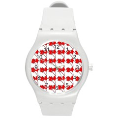Palm Tree Pattern Vivd 3d Look Plastic Sport Watch (Medium)