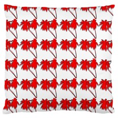 Palm Tree Pattern Vivd 3d Look Large Cushion Case (Single Sided)