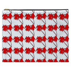 Palm Tree Pattern Vivd 3d Look Cosmetic Bag (XXXL)