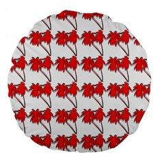 Palm Tree Pattern Vivd 3d Look 18  Premium Round Cushion