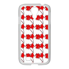 Palm Tree Pattern Vivd 3d Look Samsung GALAXY S4 I9500/ I9505 Case (White)