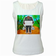 Yowie H,text In Aussie Outback, Women s Tank Top (White)