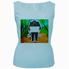 Yowie H,text In Aussie Outback, Women s Tank Top (Baby Blue)