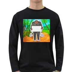 Yowie H,text In Aussie Outback, Men s Long Sleeve T-shirt (Dark Colored)