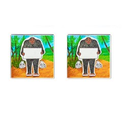 Yowie H,text In Aussie Outback, Cufflinks (Square)