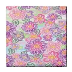 Spring Watercolor Flowers Face Towel