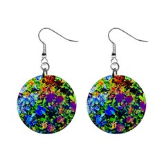The Neon Garden Mini Button Earrings