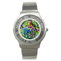 The Neon Garden Stainless Steel Watch (Slim)