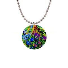 The Neon Garden Button Necklace