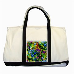 The Neon Garden Two Toned Tote Bag