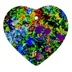 The Neon Garden Heart Ornament (Two Sides)