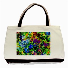The Neon Garden Twin Sided Black Tote Bag