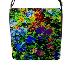 The Neon Garden Flap Closure Messenger Bag (Large)